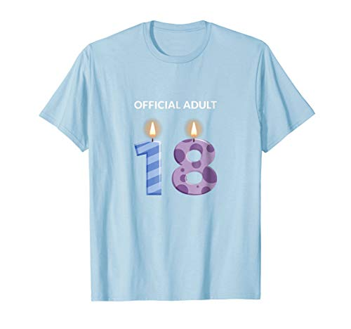 Official Adult 18th Birthday Ideas Gifts 18 Year Old T-Shirt ()