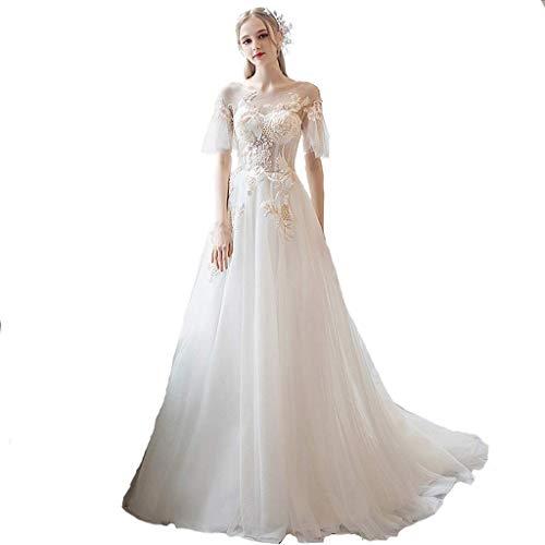 Vestido de Novia Largo de Cola de Dama de Honor Vestido de Novia ...