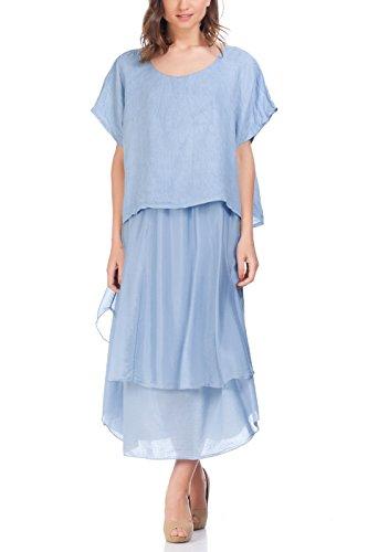 linen and silk dresses - 1
