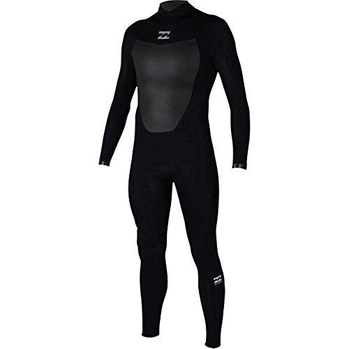 Billabong Men's Foil 3/2 Back Zip Sealed Seam Full Wetsuit, Black, Large