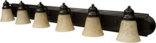 48 Inch Arch - Craftmade 11748OB6 Racetrack Arch Arm Vanity Wall Lighting, 6-Light, 360 Watts, Oiled Bronze (48