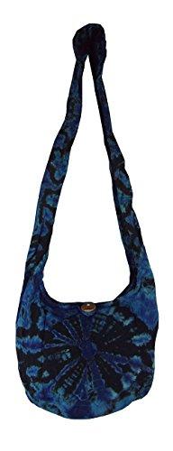 Boho Purse Blue Tie Bag Print Bag Black Festival Small Dye Hippie Bag and nYASwSBqE
