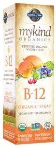 mykind Organics Organics B12 Spray, 2 Oz by Garden of Life Pack of 2
