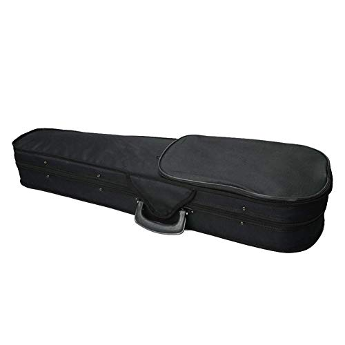 4/4 Full Size Violin Case, Professional Violin Case With Triangle Shape, Violin Hard Case With Beige Lining, Portable Lightweight Carrying Bag Slip-On Cover With Straps,Durable And Long-lasting, Black