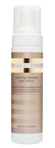 For All My Eternity Tanning Mousse Gold Edition Paraben-Free SLS-Free Instant Luxury Sunless Tanning Mousse with Natural and Organic Ingredients Luxury Self Tan Foam for Body Face Legs Arms