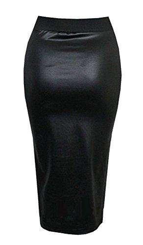 effet Purple femme jupe Hanger pour Noir extensible Mini lastique taille courte moulante simili cuir mouill wrX7RrdqEx