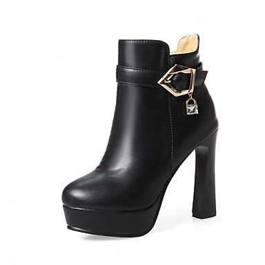 Fall Ankle Rhinestone US5 Booties Boots RTRY UK3 Leatherette Boots EU35 Pu Toe Shoes Comfort Fashion For Chunky Round Novelty CN34 Women'S Winter Heel Boots 4q4IaUp