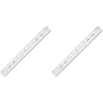 metric ruler vs standard ruler. s.p. richards company standard metric ruler, 12 long, holes for binders, clear ( ruler vs