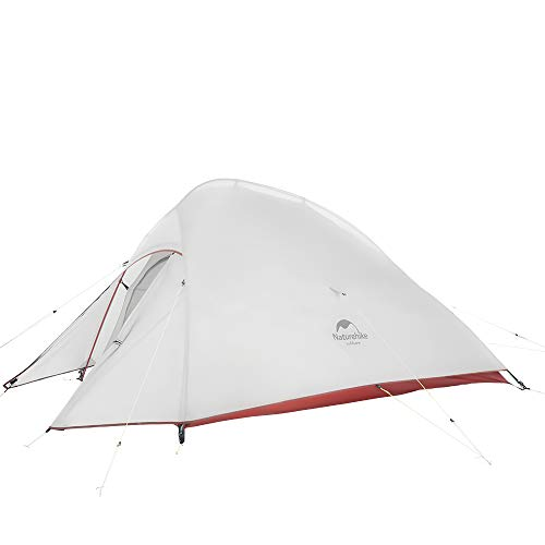 Naturehike Cloud-Up 2 Person 4 Season Backpacking Tent with Footprint -Free Standing Ultralight (3.75lbs) 20D Silicone Backpack Tent for Winter Camping Hiking Climbing(20D Gray(Upgrade)