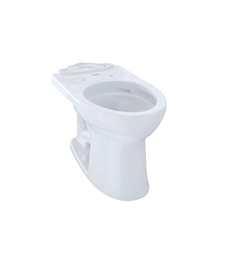 Toto C454CUFG#03 Drake II 1G Toilet Bowl with SanaGloss, Bone, 2-Piece (Sanagloss Two Piece Toilet Elongated)