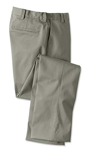 Orvis Men's Wrinkle-Free Comfort-Waist Stretch Cotton Chinos Plain, Olive, 38W X 29L