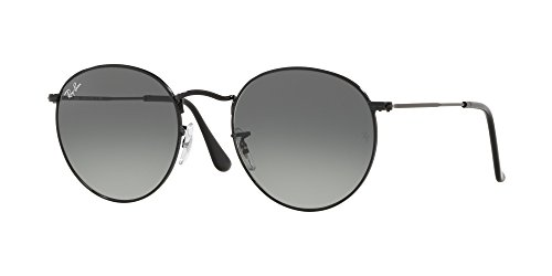 Ray-Ban Men's Metal Man Round Sunglasses, Black, 50 - Black Metal Ban Round Ray