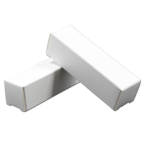 Rectangle Kraft Paper DIY Lipstick Box Beauty Tools Accessories Makeup Cases Cosmetic Lip Balm Tube Boxes 0.78x0.78x3.34 inch Lipstick Tube Packaging Essential Oil Bottle Boxes (50, White)
