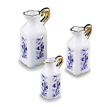 Dollhouse Miniature Blue and White Porcelain Pitcher