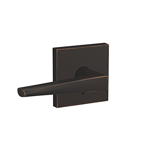 Schlage Custom FC21 ELR 716 COL Eller Lever with Collins Trim Hall-Closet and Bed-Bath Lock, Aged Bronze ()