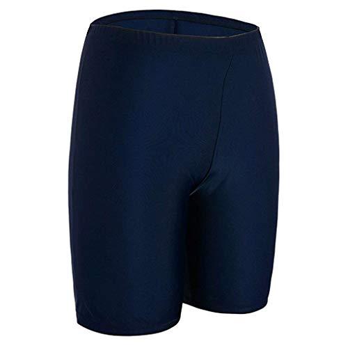 TIFENNY Women Sport Sunscreen Elastic Bathing Bottom Skinny Capris Swim Shorts Trunks Swimming Pants Navy