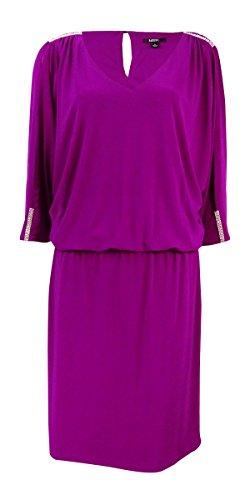 Embellished Blouson (MSK Womens Cold-Shoulder Embellished Blouson Dress)