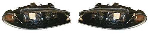 Headlights Headlamps LH Left & RH Right Pair Set for 97-99 Mitsubishi Eclipse