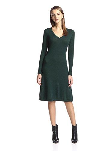Cashmere Addiction Womens Long Sleeve V-Neck Dress