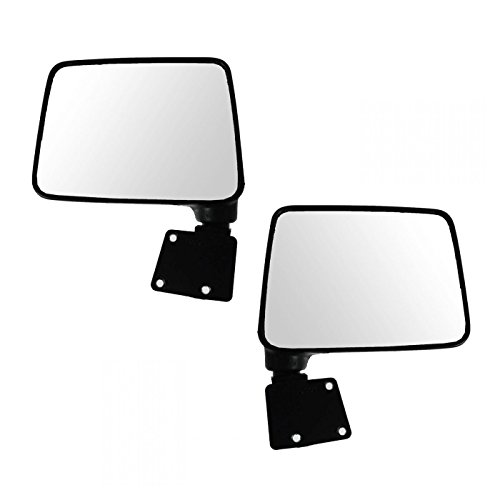 Manual Folding Black Mirror LH Driver RH Passenger PAIR for 87-95 Suzuki Samurai (Suzuki Driver Samurai)