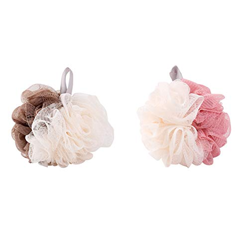 Luckypeople Shower Loofah Body Mesh Bath Sponge Exfoliating Loofa 2 Pack Easy Lotion for Man and Woman