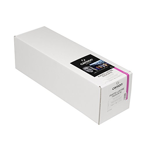 Canson Infinity Photo Lustre Premium Photographic Paper for Black and White, and Color Reproductions, 310 Grams, 17 x 82 Inch Roll