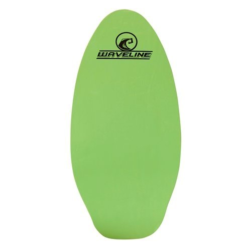 Waveline Skimboards Neon Wooden - Choose Color and Size (Green, 30