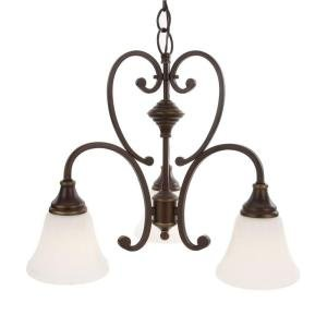 Hampton Bay GEX8193A-3 Somerset Collection Bronze 3-Light Chandelier by Hampton Bay