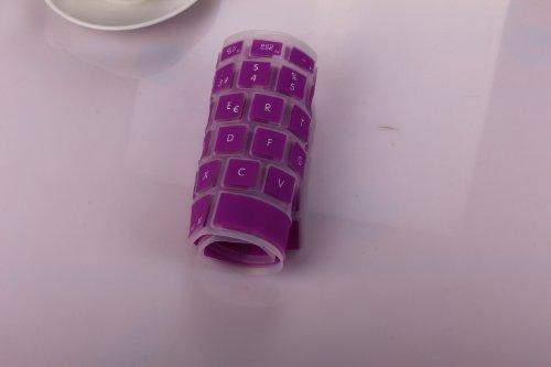 Generic Spanish language Silicone UK EU Keyboard Cover skin For Macbook 15 15.4 inch , Purple