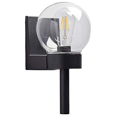 "Rivet Mid-Century Modern Outdoor Lights, 7.125""H, Matte Black"
