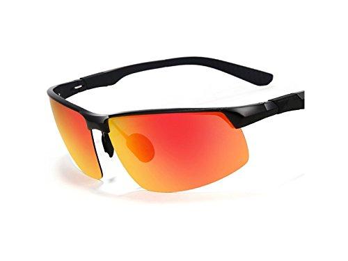 antirreflejo Sol para de Gafas Negro de Naranja Ski Deportes Deportivas HFjingjing y Hombres de Driving para magnesio Sol Marco polarizadas Deportivas Deportes con para Aluminio y Gafas Yqwt6x51E