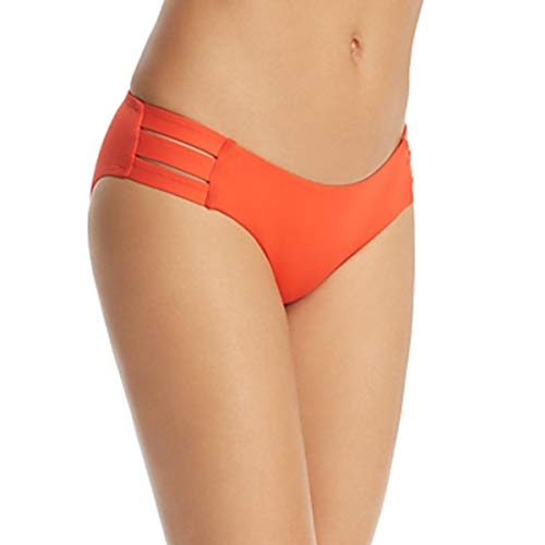 Vitamin A Women's Emelia Bikini Bottoms, Papavero, Orange, X-Small (Nylon Vitamins)