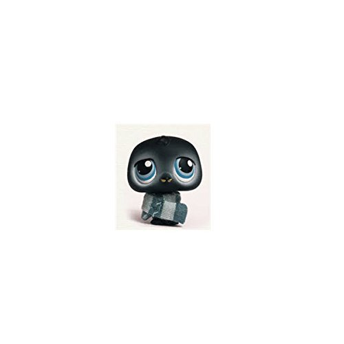 Littlest Pet Shop Penguin # 389 (Black With Blue Eyes) - LPS Loose Figures - Replacement Pets - LPS Collector Toy (Out Of Package/OOP)