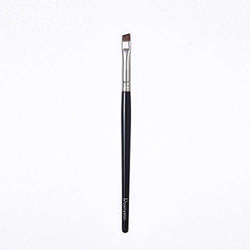 Rownyeon Eyebrow Brush, Angled Eye Brow Brush Firm,Premium Quality Professional Eye Make up Brush for Women-Precision Application & Blending of Brow Powders, Waxes and Gels-Black -