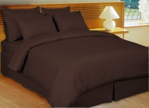 Love2Sleep EGYPTIAN COTTON FITTED SHEET HOTEL QUALITY   4FT (SMALL DOUBLE)  CHOCOLATE (DARK
