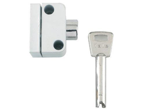 Yale Locks 8K102 Push Button Window Lock White Finish Visi Pack by Yale