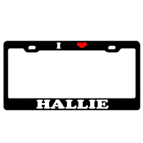 Dub Dub Child Frame (YEX Abstract I Heart Hallie Boy Girl License Plate Frame Car Licence Plate Covers Auto Tag Holder 6