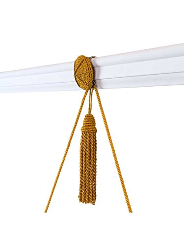 Vera Rosette and Tassel Picture Hanger with Rail Hook in Antique Ivory