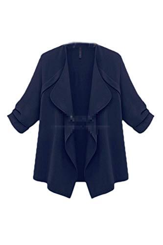 Huixin Cardigan Femme lgant Printemps Automne Manches Longues Ouvert Jacken Young Styles Uni Manche Legere Loisir Baggy Oversize Outwear Vtements D'Extrieur Navy