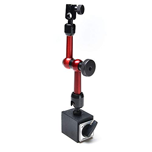 AGPtek 3-joint Red Adjustable Magnetic Base Holder for Digital Dial Indicator ()