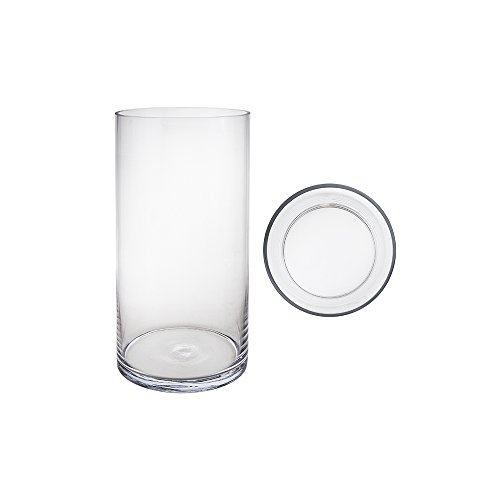 Libbey Cylinder Vase, 6-Inch, Clear, Set of (Bulk Glass Vases)