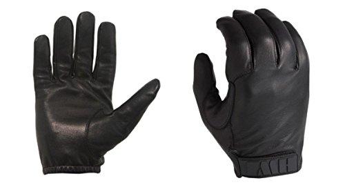 ACK, LLC HWI Gear Kevlar Lined Leather Duty Glove, Medium, Black