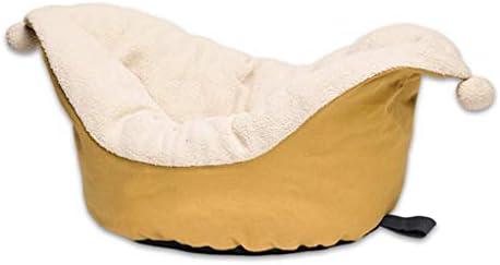 Clown Hat Cat Litterクリエイティブノンスリップデザイン冬暖かいペットハウスリビングルームベッドルームバルコニーユニバーサルドッグハウス (色 : Turmeric, サイズ さいず : 55×45×20cm)