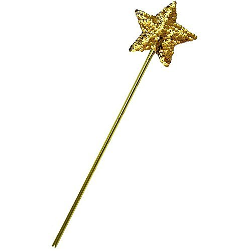 Gold Sequin Star Wand - One Size by Jacobson Hat Company