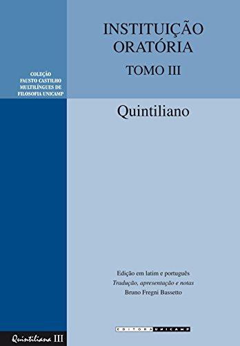 Instituição Oratória: Tomo III