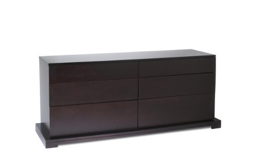Lifestyle Solutions 950-6D-DR-CP Zurich Series 6 Drawer Double Dresser in