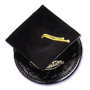 Graduation Cap Cake Topper – Black, Health Care Stuffs