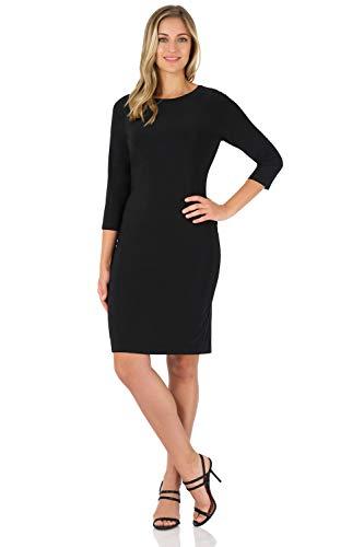 Rekucci Women's Classic Chic Shift Dress (16,Black)