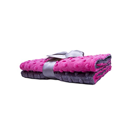 MEG Original Hot Pink & Charcoal Gray Baby Girl Burp Cloth Feeding Set