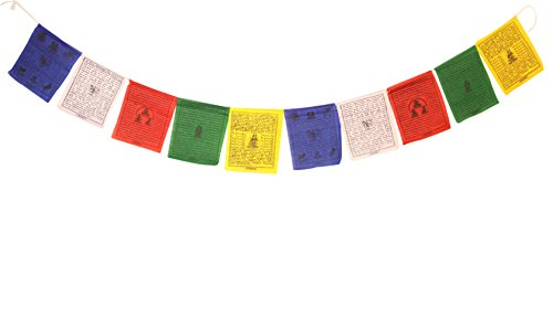 Tibetan Buddhist Prayer Flags Outdoor Small Cotton Flag from Nepal Fair Trade (Small Traditional Design)